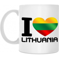 "Puodelis ""I love Lithuania"", 300ml"