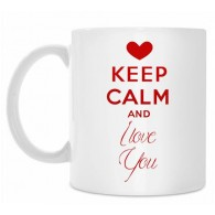 "Puodelis ""KEEP Calm and I love You"", 300ml"