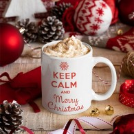 "Puodelis ""Keep calm Merry Christmas"", 300ml"